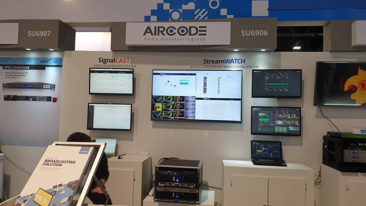 Aircode UHD broadcasting technology was selected the best research results in 2019. 썸네일